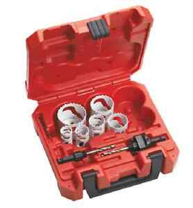 Milwaukee 49 22 4074 8pc Locksmiths Bi metal Hole Saw Kit In Stock