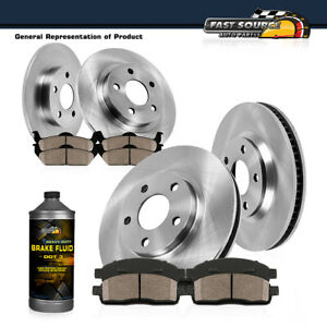 Front Rear Brake Rotors Ceramic Pads For 2012 2013 2014 2017 Toyota Camry