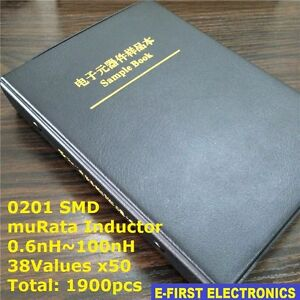 0201 Smd Chip Inductors Assorted Kit 0 6nh 100nh 38valuesx50 Sample Book Murata