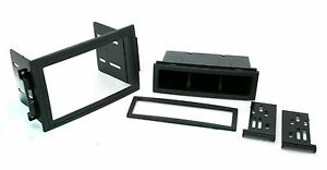 Double Sgl Din Dash Kit For Chrysler Radio Stereo Replace Install Plastic Trim