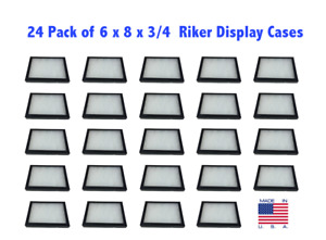 24 Pack Of 6 X 8 X 3 4 Riker Display Cases Box For Collectibles Jewelry