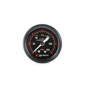 Grams 0 120 Fuel Pressure Gauge Black Universal G2 99 1200