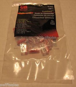 Gardner Bender 25 pc2 2 conductor Pushgard Push in Wire Connectors Sealed 10pk