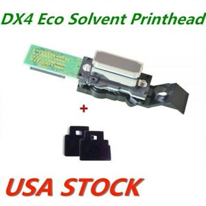 Us Stock Original Roland Dx4 Eco Solvent Printhead With Wiper Bla