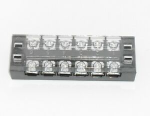 6 Position Screw Terminal Block 600v 25a With Cover