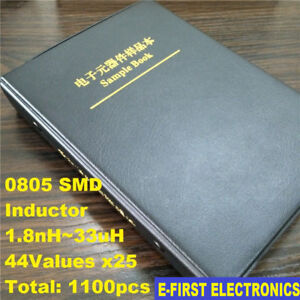 0805 Smd Smt Chip Inductors Sample Book Assortment Kit 44values X25 Assorted