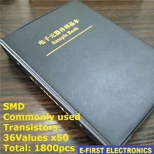 36 Kinds X50 Commonly Used Assorted Smd Sample Book Transistor Assortment Kit