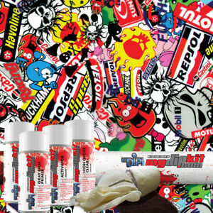 Hydro Dipping Water Transfer Printing Hydrographic Dip Kit Stickers Ll 535