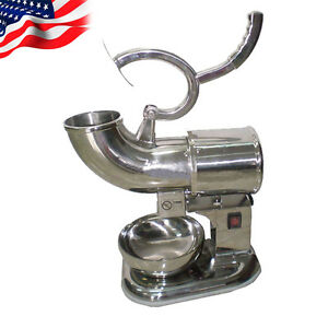 Us snow Cone Machine Ice Shaver Maker Ice Crush Maker Stainless Steel Fast Ship