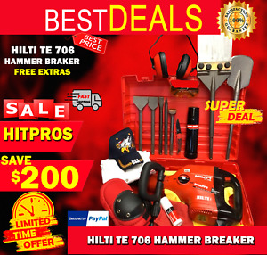 Hilti Te 706 New Made In Germany Free Chisels Fast Ship