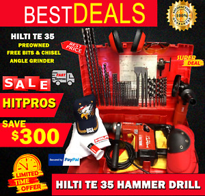 Hilti Te 35 Hammer Preowned Free Bits Chisels Angle Grinder Fast Ship