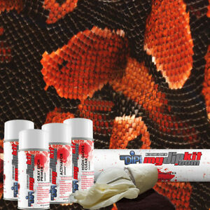 Hydrographic Film Kit Hydro Dipping Water Transfer Printing Red Cobra Ap 109