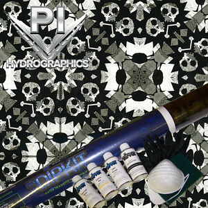 Hydrographic Kit Hydro Dipping Water Transfer Hydro Grunge Skulls Two Rl1021