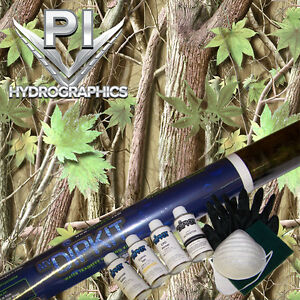 Hydrographic Kit Hydro Dipping Water Transfer Hydro Dip Green Leaf Camo Hc 2522