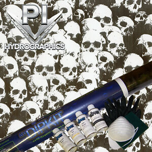 Hydrographic Kit Hydro Dipping Hydro Dip Shadow Clear Skull Ll296 1