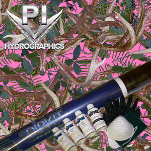 Hydrographic Kit Hydro Dipping Transfer Hydro Dip Hidden Antler Pink Camo Hc 915