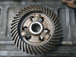 1957 Massey Harris 444 Gas Tractor Differential Assembly Ring Gear Free Shippin