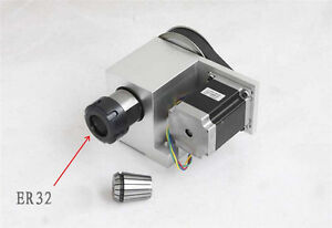 6 1 Cnc Rotary Axis Er32 Hollow Shaft Synchronous Belt Nema 23 3a Stepper Motor