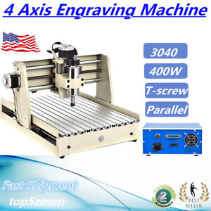 Cnc Router Engraver Engraving Cutter 4axis 3040 Cutting Woodworking Drill 400w