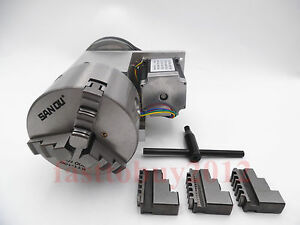 Cnc Rotary Axis 4th Axis Router Rotational 3 Jaw Chuck 100mm For Cnc Machine