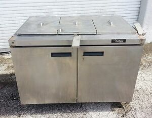 Delfield Refrigerated Sandwich Prep Table Model 4448n 18m Used