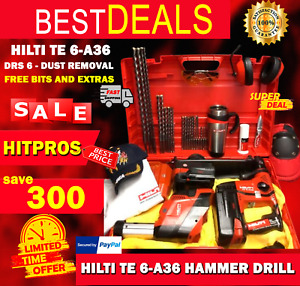 Hilti Te 6 a36 Preowned Drs 6 Dust Removal Free Bits And Extras Fast Ship