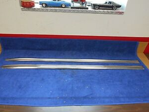 1954 Mercury Front Fender Trim Pair Nos Ford 916