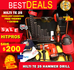 Hilti Te 25 Excellent Condition Free Thermo Bits Fast Ship