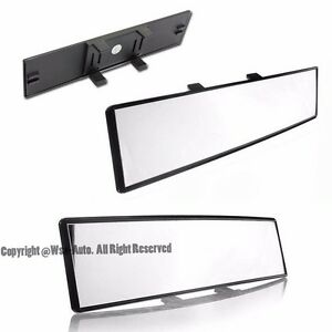 240mm Clear Jdm Wide Convex Curve Universal Clip On Rear View Mirror Suv Truck