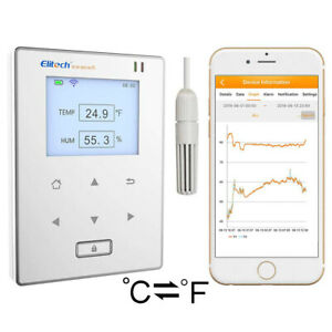 Elitech Rcw 800 Wifi Temperature Humidity Data Logger Intelligent Temp Monitor