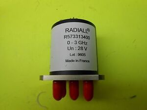 Radiall R573313400 Rf Switch Sp4t 0mhz To 3ghz 80db