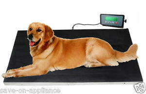 Large 660lb Stainless Steel Dog Digital Pet Scale Veterinary Animal Weight Vet