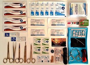 Emergency First Aid Kit Outdoor Survival Medical Supplies Surgical Sutures Ifak