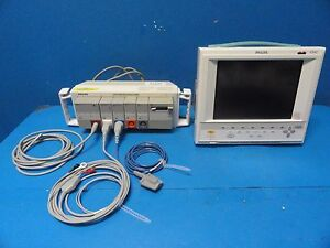 2004 Philips Critical Cardiac Care Touch Screen Monitor V24c W New Leads 11064