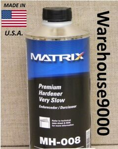 Matrix Premium Hardener Very Slow Mh 008 Quart For Use With Matrix Clearcoats