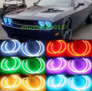 Rf Cotton Rgb Halo Ring For Dodge Challenger 2008 2014 Demon Angel Eyes Lamp Drl