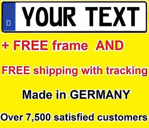 Custom German Euro License Plate Audi Bmw Porsche Volkswagen Mercedes Vanity Tag