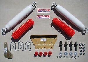 Dual Front Steering Stabilizer Shock Kit 99 04 F250 350 Excursion 4x4 Lift