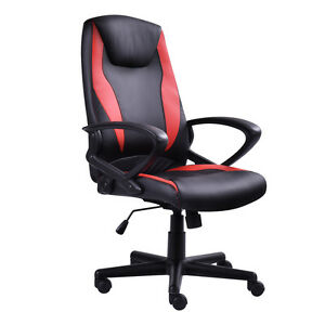 Pu Leather High Back Racing Style Executive Office Chair Desk Task Computer New