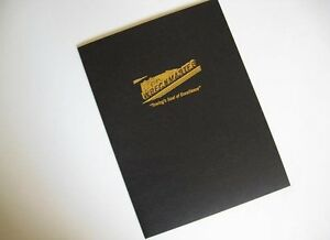 250 Black Linen Presentation Folders With Custom Foil Stamp