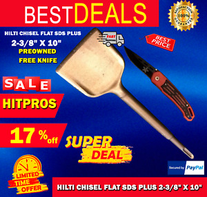Hilti Chisel Flat Sds Plus 2 3 8 X 10 Preowned Free Knife Fast Ship
