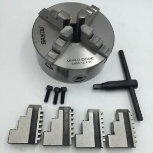 New 6 Inch 4 Jaw Self centering Lathe Chuck Hardened Steel Cnc Milling Machine