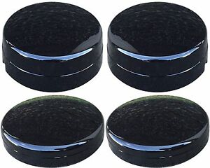 Black Center Hub Cap Set For Dodge Ram 3500 1 ton Truck Dually 2 Fronts 2 Rears