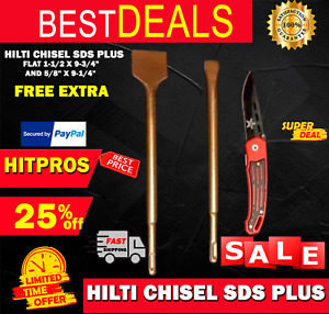 Hilti Chisel Sds Plus Flat 1 1 2 X 9 3 4 And 5 8 X 9 1 4 Fast Ship