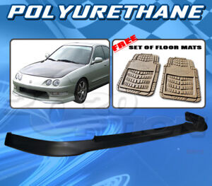For Acura Integra 98 01 T R Style Front Bumper Lip Body Kit Pu Floor Mat Pair