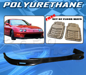 For Acura Integra 98 01 T s Style Front Bumper Lip Body Kit Pu Floor Mat Pair