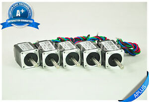 5 Pcs Nema 8 Micro Stepper Motor 1 96oz in 28mm 0 2a 1 8degree 4wires