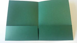 100 Blank Green Presentation Pocket Folders With Two Pockets