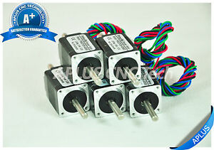 5 Pcs Nema 8 Micro Stepper Motor 1 96oz in 28mm 0 6a 1 8degree 4wires