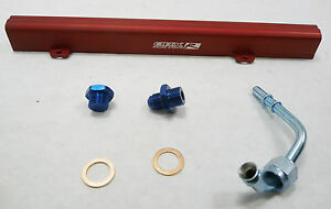 Obx Red Aluminum Fuel Rail For 2002 2012 Nissan Sentra Se r 2 5l Qr25de